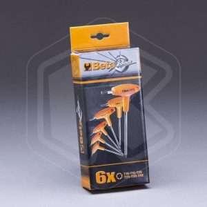 Chiavi maschio Torx con Impugnatura Beta TTX/S6 6pz
