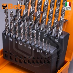 Set Punte in acciaio HSS Rettificate lucide Beta 412/SP19P