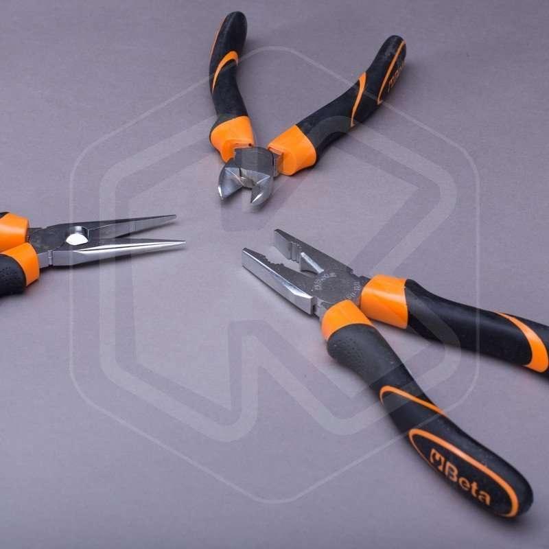 Set 3 utensili Beta Tools 1169BM//D3 pinza universale tronchese pinza becchi