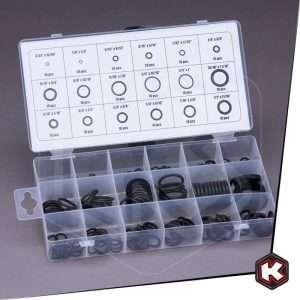 Set O-ring in gomma Fervi - 225 pezzi